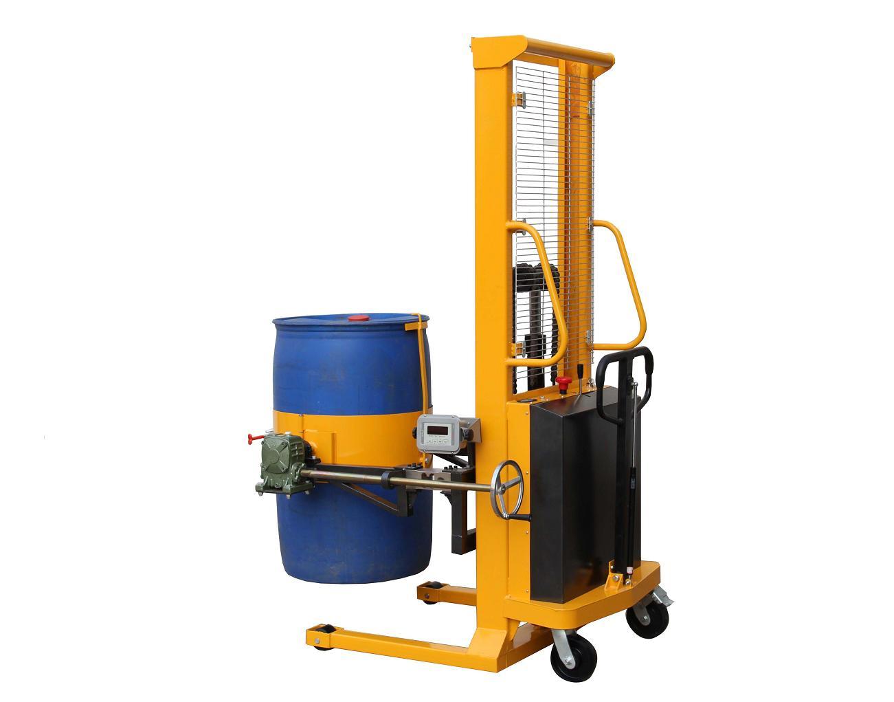 yl500c-1电子秤油桶倒料车塑料桶